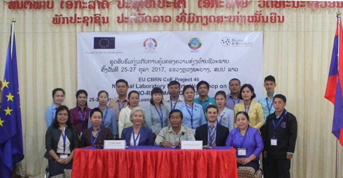 Biohazard management workshop in Laos