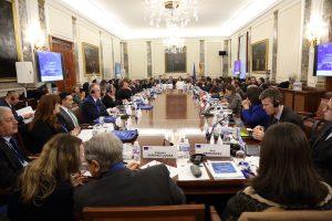 Los participantes durante el foro euromediterráneo