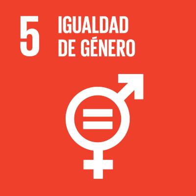 Icono Objetivo Desarrollo Sostenible número 5. Igualdad de Género