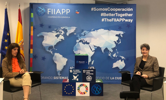 La Secretaria de Estado de Cooperación Internacional visita la FIIAPP